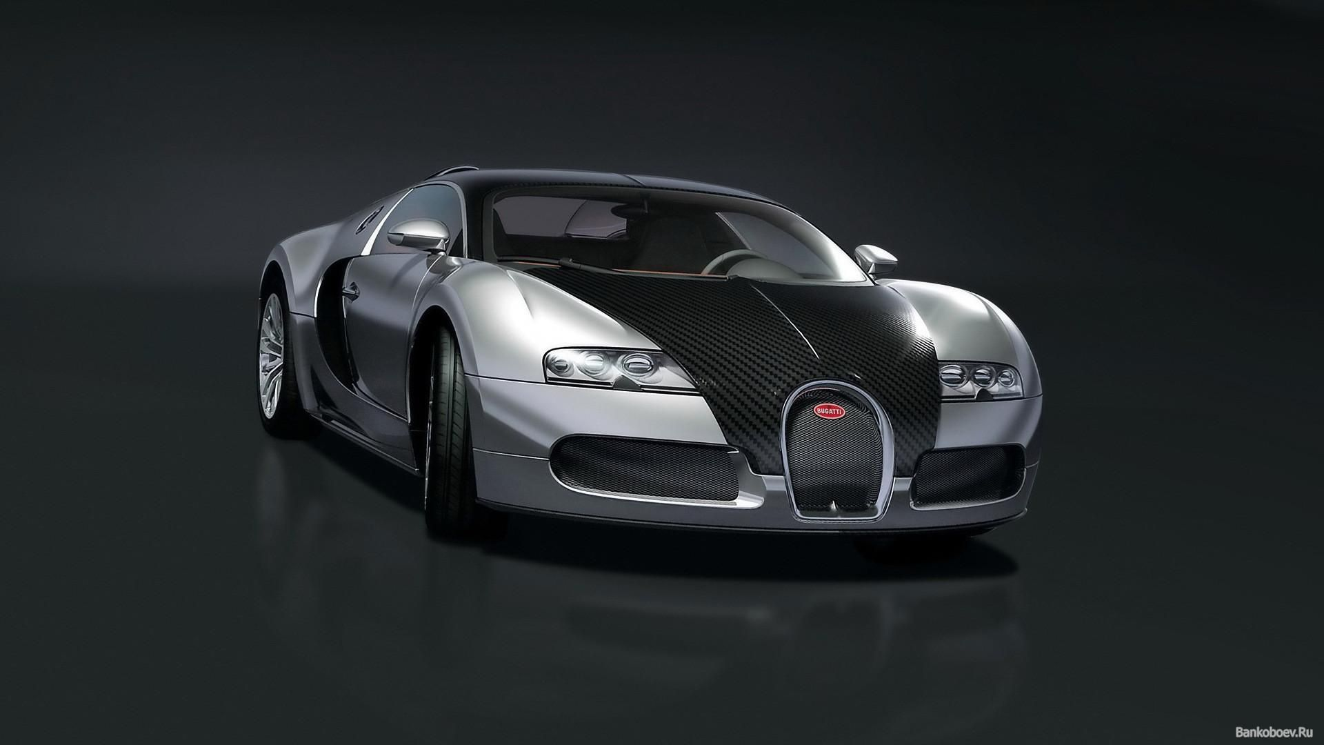 Hd Bugatti Veyron On A Black Background Wallpaper Download Free .