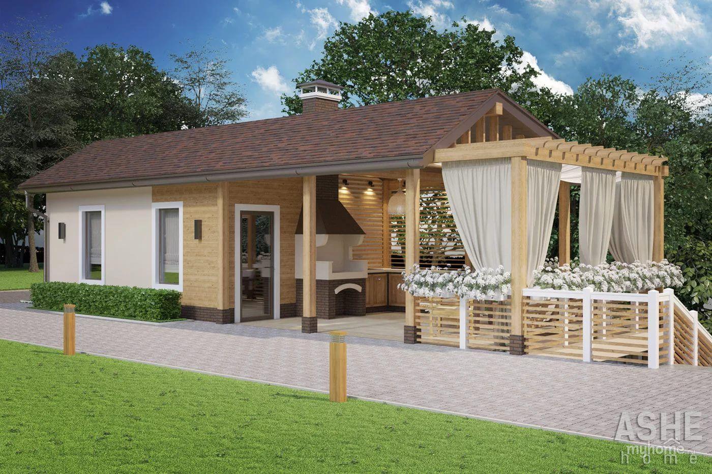 американцы увидели фото гостевого дома с сараем создается кухонный гарнитур