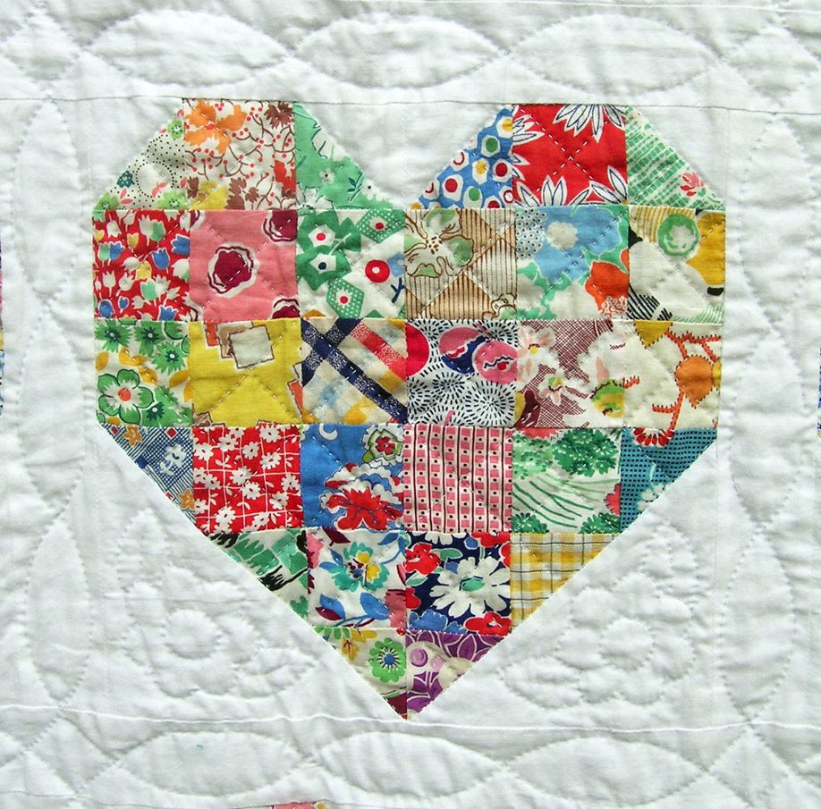 Emily's Heart Quilt : This Heart Quilt is a bride's quilt for my ... : quilts with hearts - Adamdwight.com