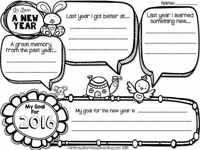 Writing Templates For The New Year (Free New years
