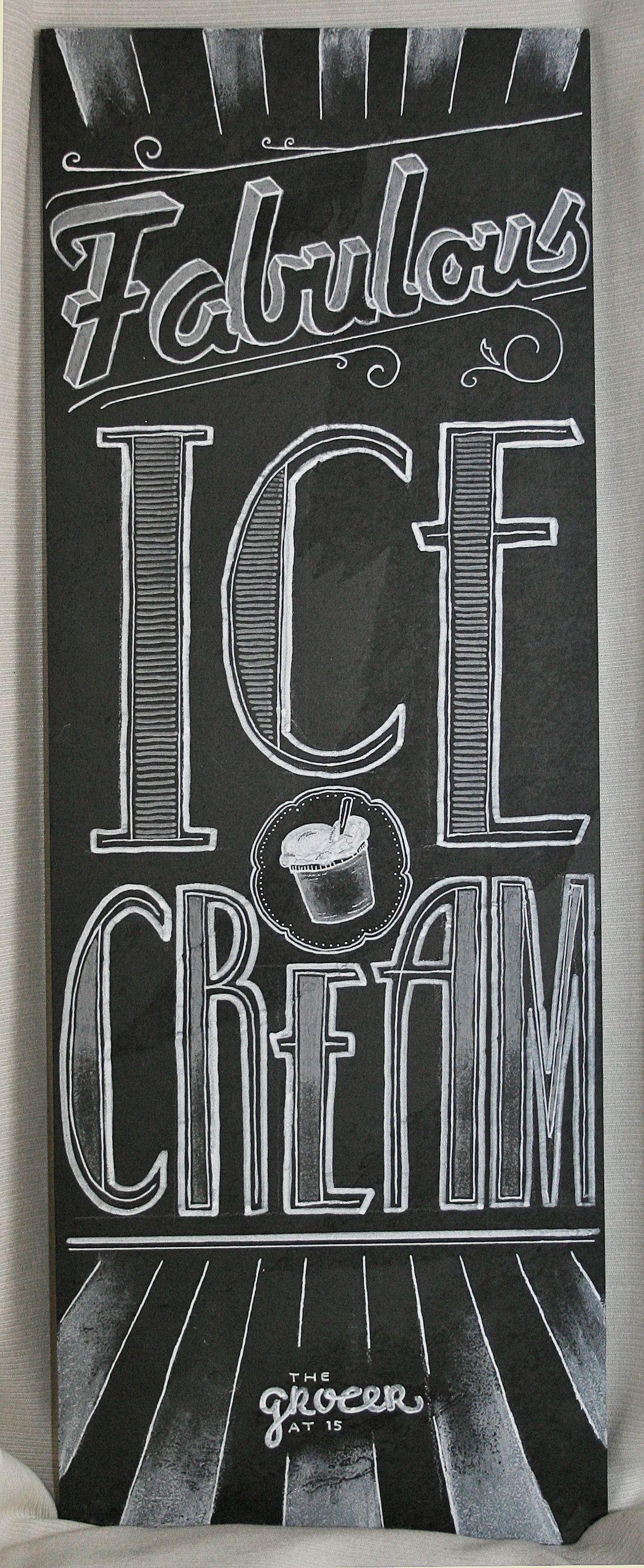 fabulous ice cream sign done by blackboard duty chalkboard signs