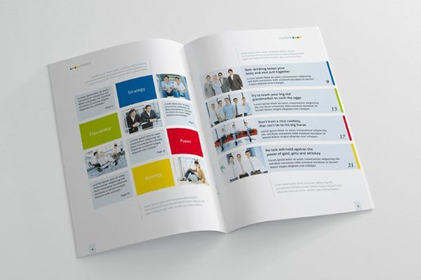 20 beautiful modern brochure design ideas for your 2014 projects - Publication Design Ideas