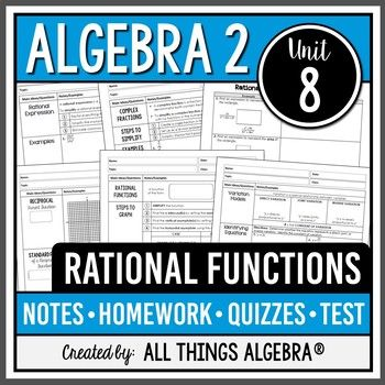 rational functions algebra 2 curriculum unit 8 rational rh pinterest com Sample Curriculum Guides algebra 2 common core curriculum guide