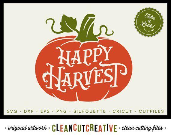 b81e01f4621c7 SVG Happy Harvest SVG Pumpkin svg Fall svg vintage farm house rustic ...