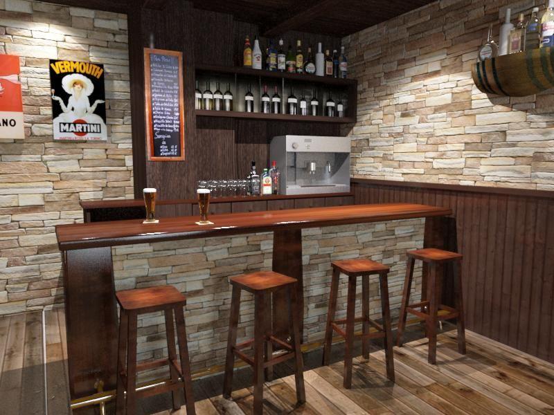 Como decorar una bodega rustica bodegas y s tanos - Barra de bar en casa ...