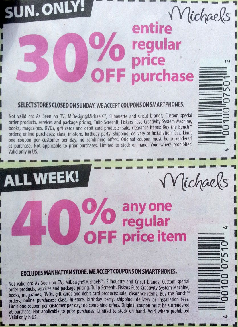 What Michaels Coupon Should I Use Robert Kaplinsky Free Printable Coupons Michaels Coupon Printable Coupons