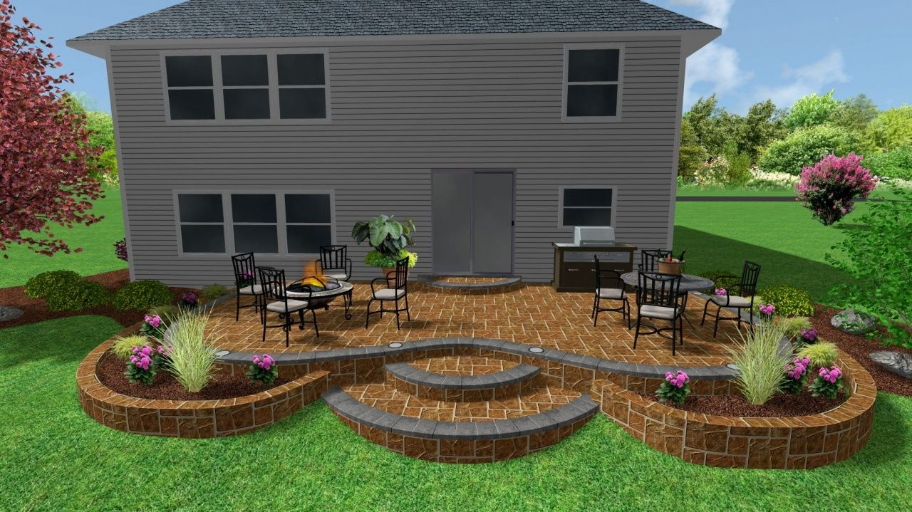 extend concrete patio with pavers in 2020 patio remodel on steps in discovering the right covered deck ideas id=58442