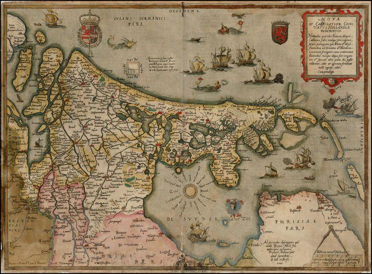 Nova et Castigator Comitatus Hollandiae Descriptio . . . - Barry Lawrence Ruderman Antique Maps Inc.