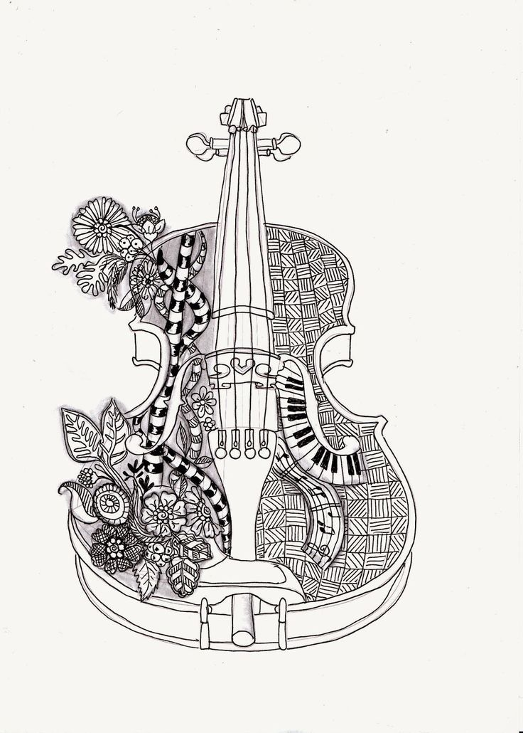 el violin mas hermoso magdalas Pinterest Adult coloring