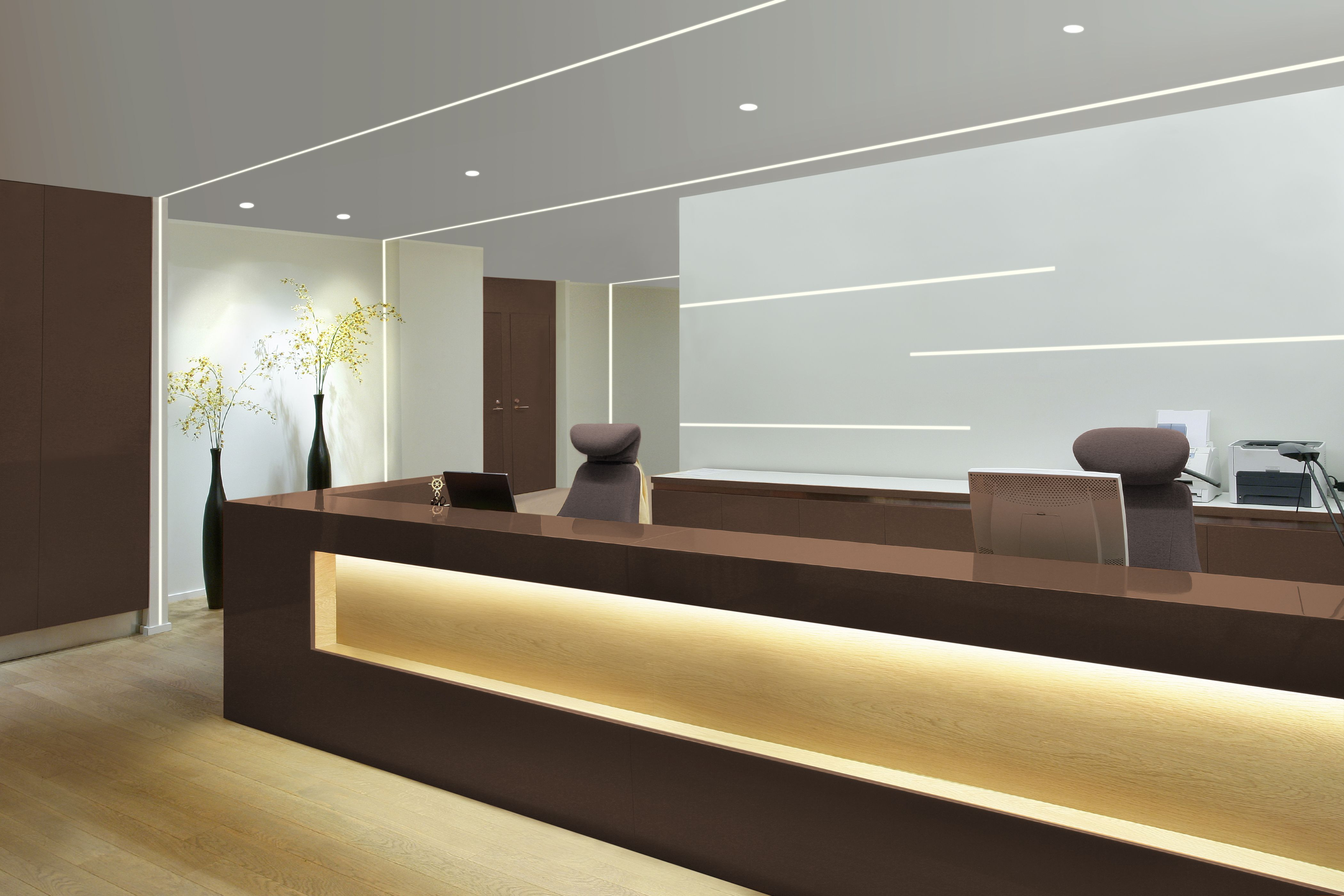 make a statement in a lobby or reception area with truline 5a by