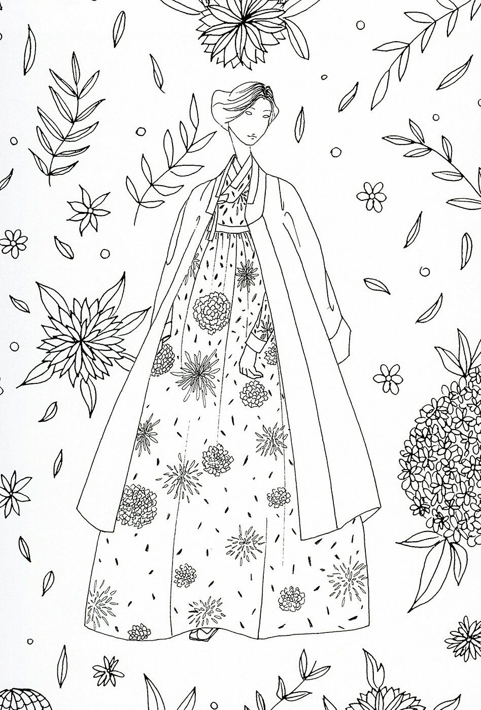 adult coloring page : Japan | ART | Pinterest | Dibujos, Bordado and ...