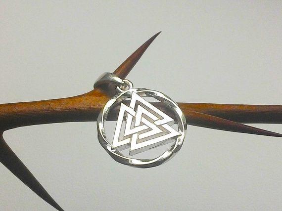 Valknut Pendant Norse Asatru Nordic Jewelry Valknut