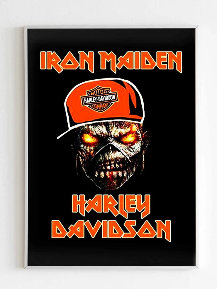Iron Maiden Harley Davidson Poster Harley Davidson Posters Harley Iron Maiden