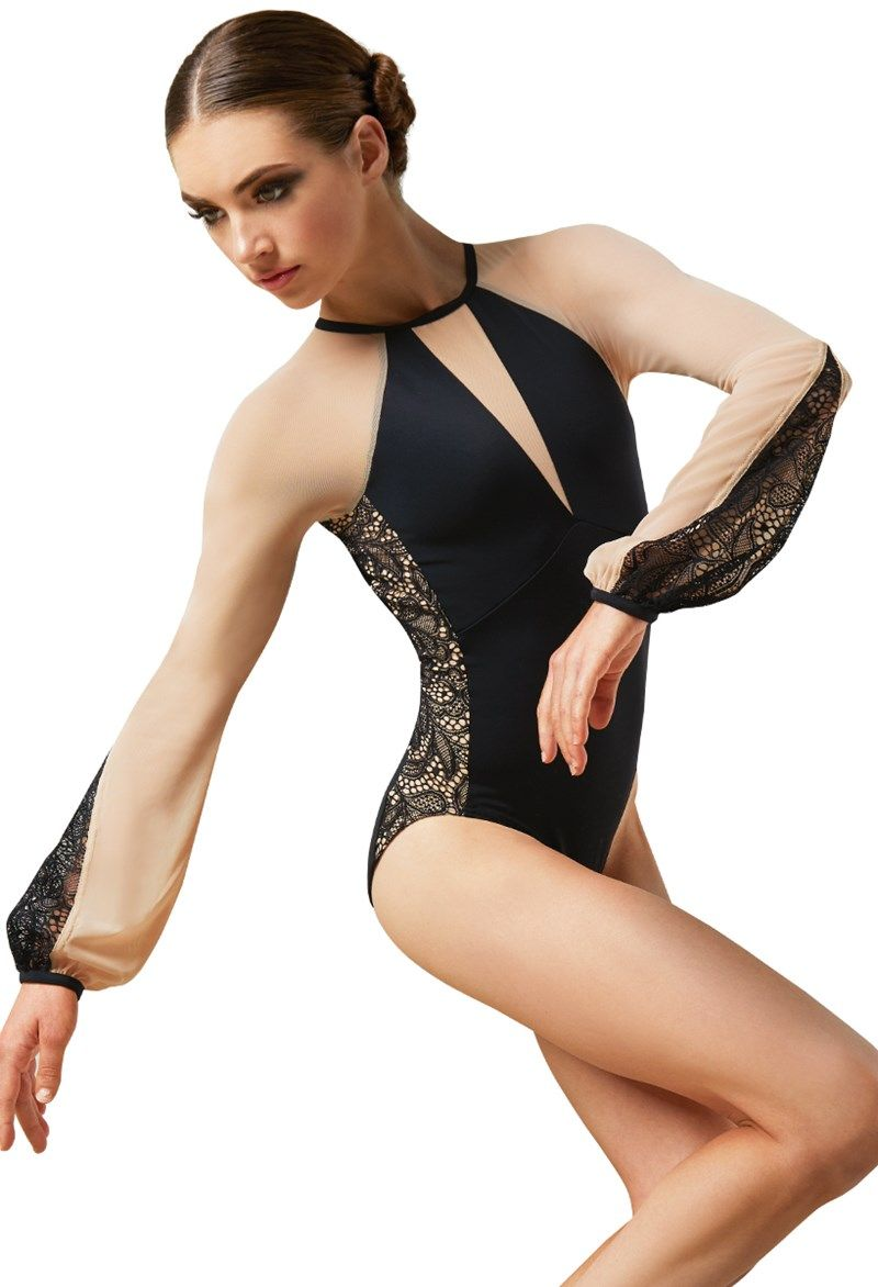 92ace7c2b Lace And Poet Sleeve Leotard