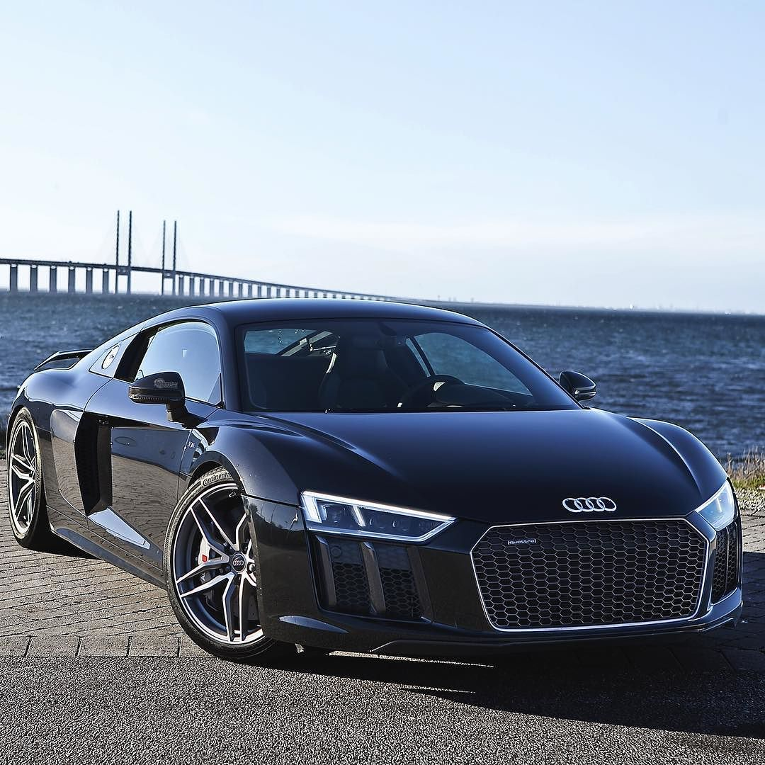 Audi R8: Repost Via Instagram: A Sunny Day With The Black Beast