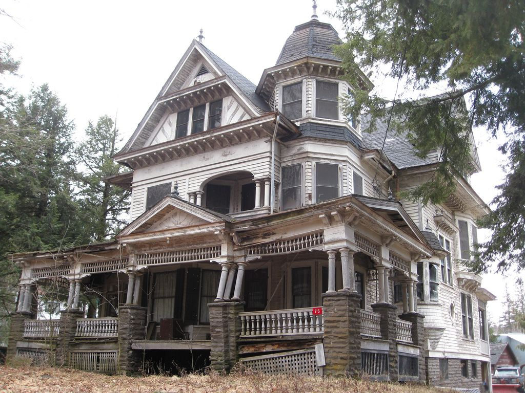 """Heart breaking! 75 Depot Street This fabulous mansion is a great example of George F. Barber's design no. 37 from """"New Model Dwellings."""""""