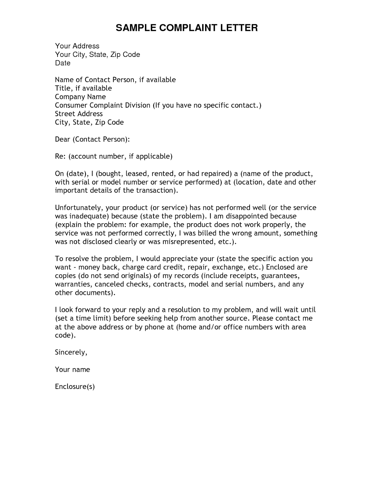 Complain.png (1236×1600) · Business Letter TemplateLetter ...  Inquiry Letter Sample For Business