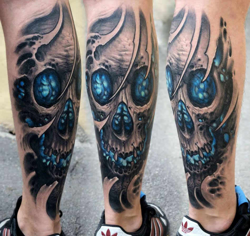 Biomechanical Tattoos by Stepan Negur Biomechanical