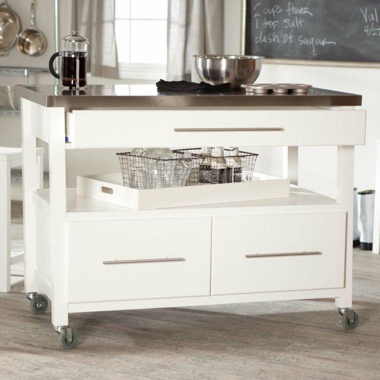 Islas para cocinas peque as y moviles muebles for Muebles de cocina moviles