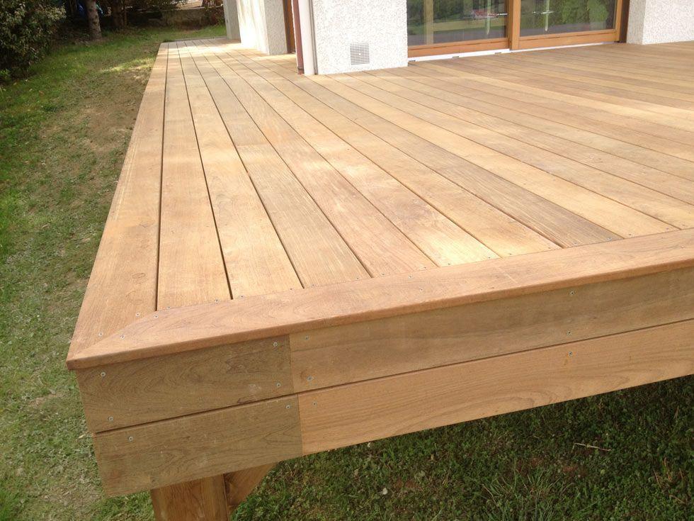 Terrasse en bois exotique (Ipé) sur pilotis + escalier terrasse