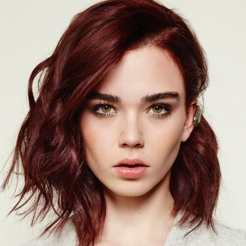 deep red auburn hair color