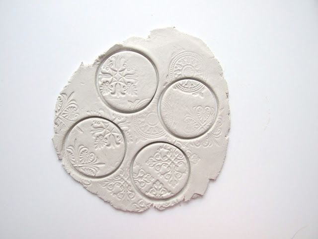 Gathering Beauty: Stamped Clay Magnets.