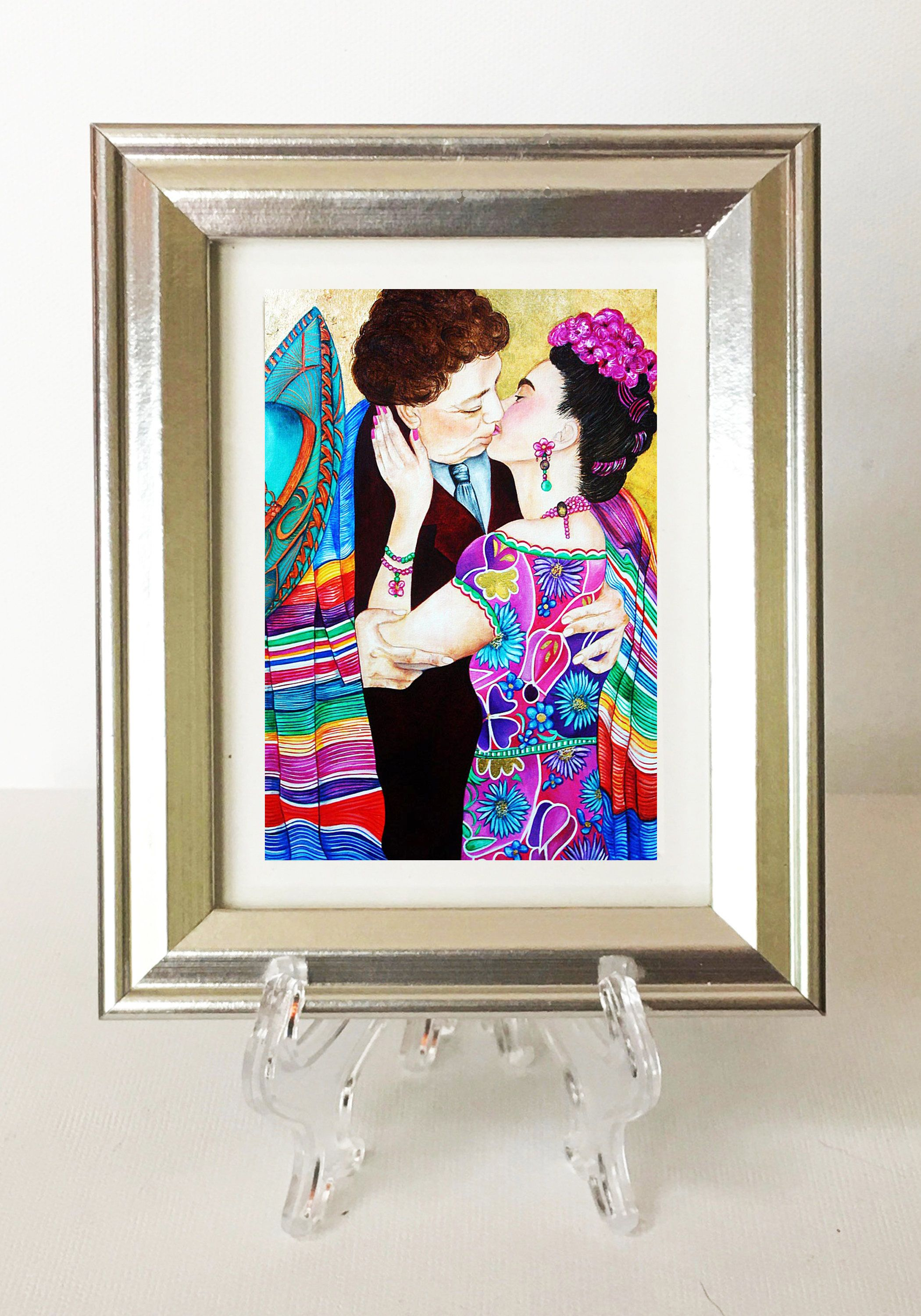 Prints, Frida Kahlo Art Print, Small Framed Art, Silver Picture ...