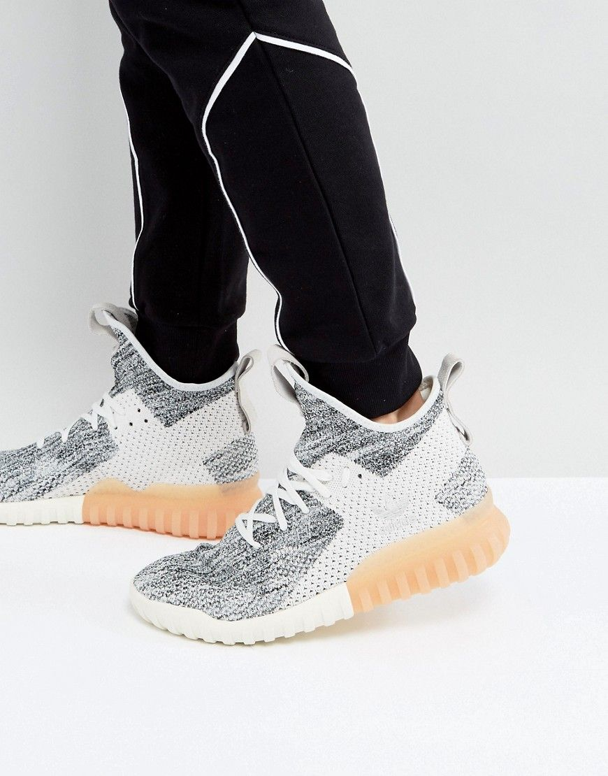 ADIDAS ORIGINALS TUBULAR X PRIMEKNIT SNEAKERS IN GRAY BY3146