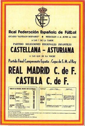 Cartel De La Final De La Copa Del Rey Entre El Real Madrid Y El Castilla El 4 De Junio De Jun Real Madrid Fondos Del Real Madrid Fondos De Pantalla