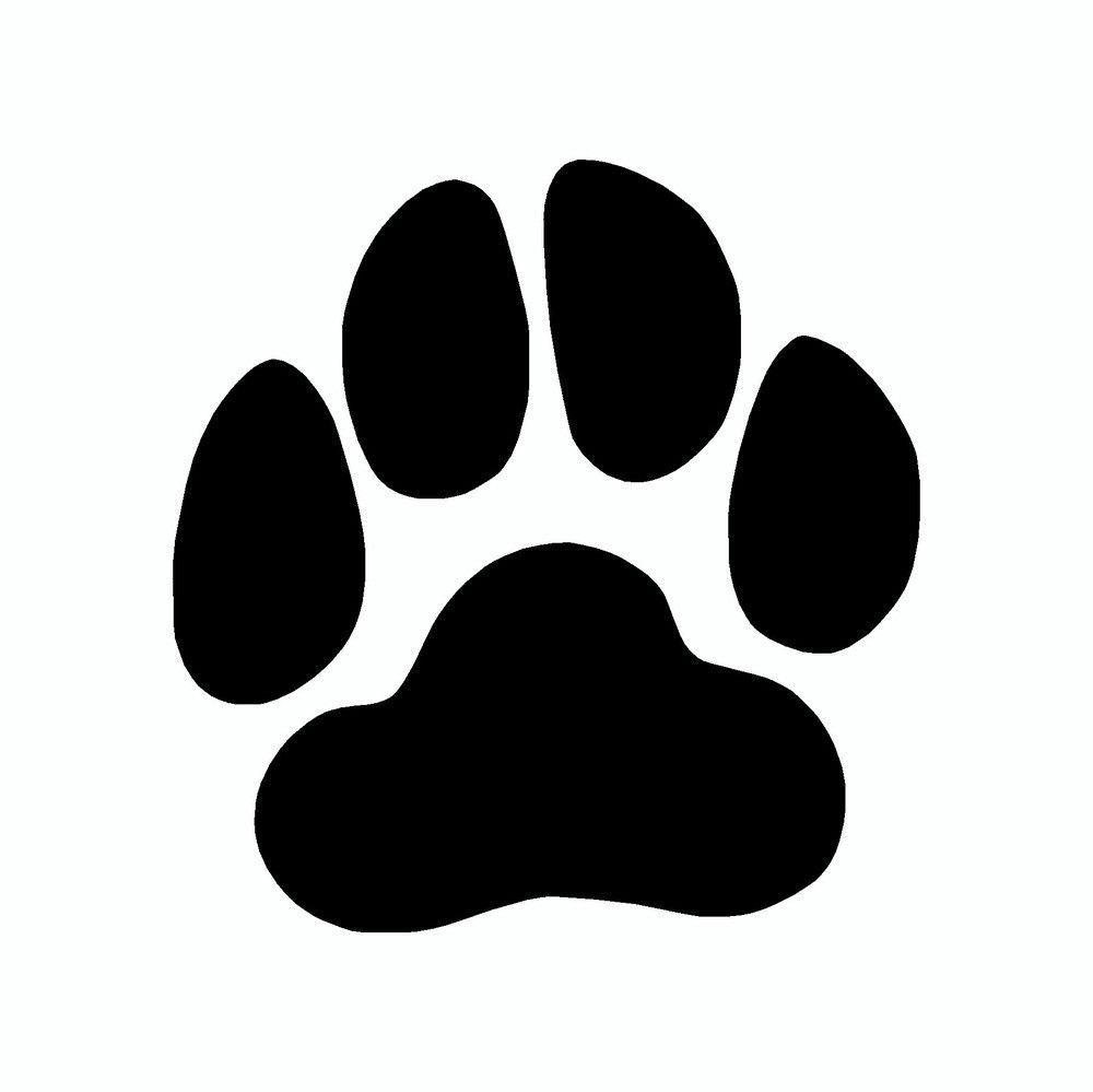 plain dog paw print vinyl dog car sticker patterns pinterest