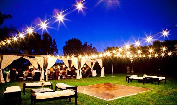 Lanterns, lights, dance floor