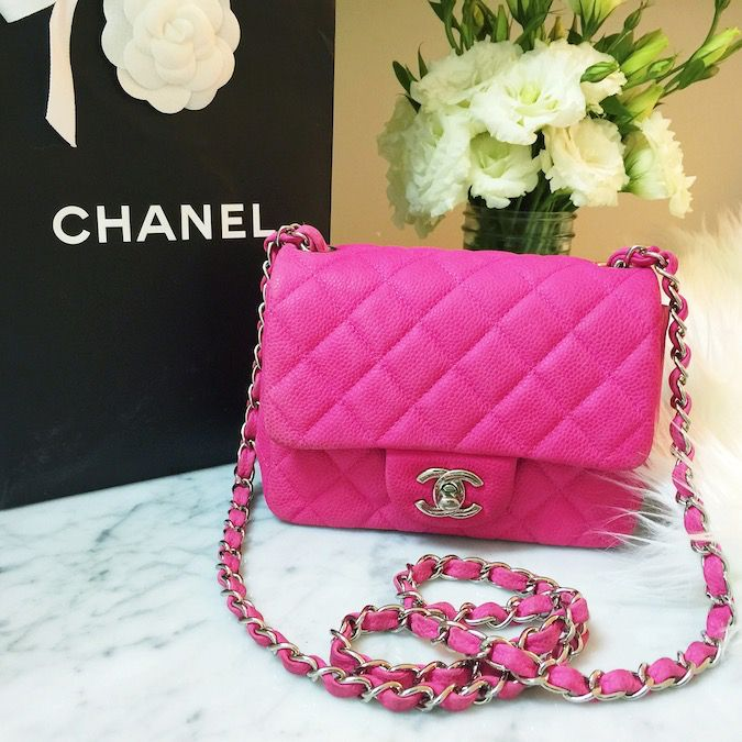dd967ad45db Chanel classic flap bag hot pink small