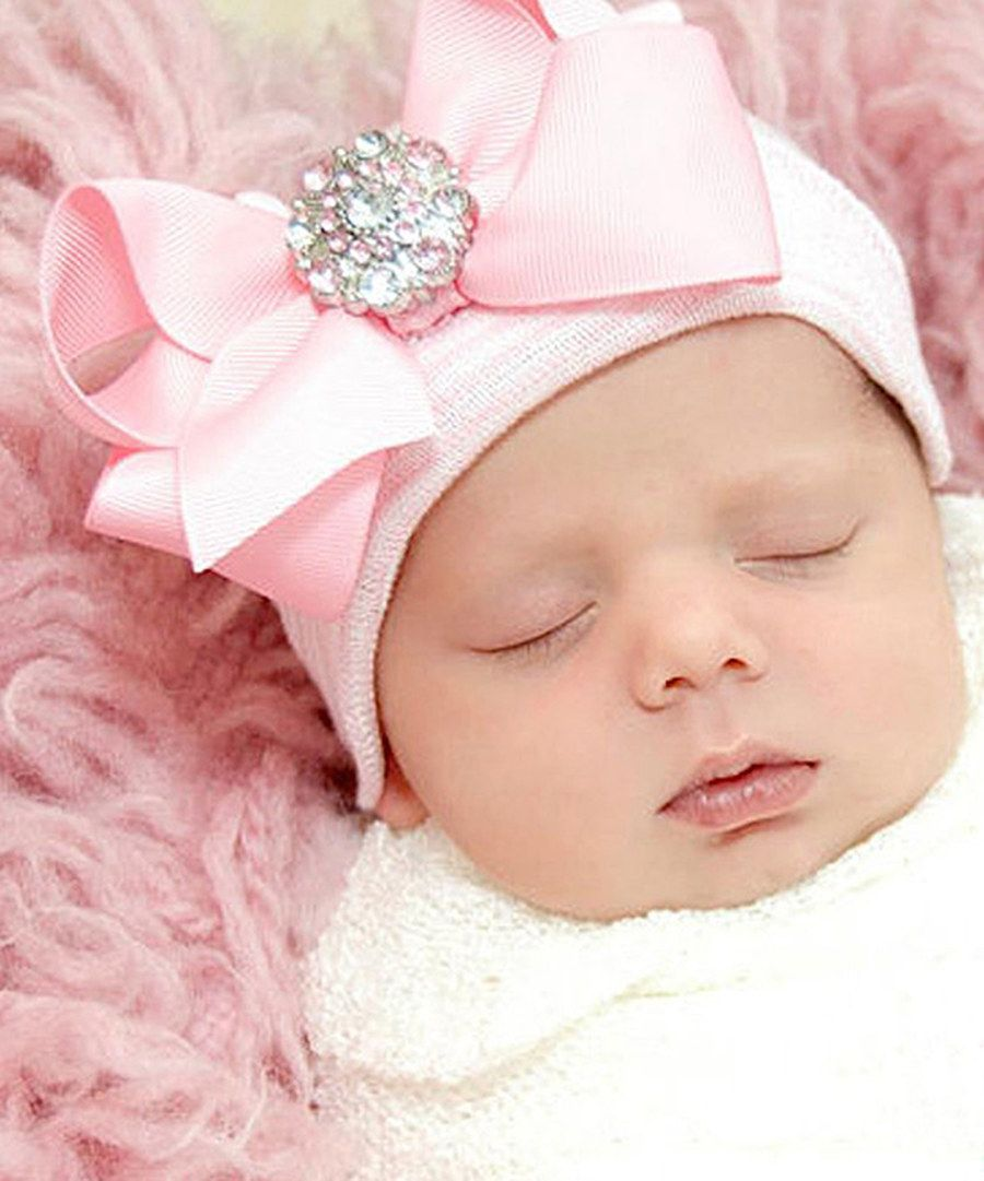 b4869bd8537 Look at this Infanteenie Beenie Pink Bling Bow Beauty Beanie on  zulily  today!