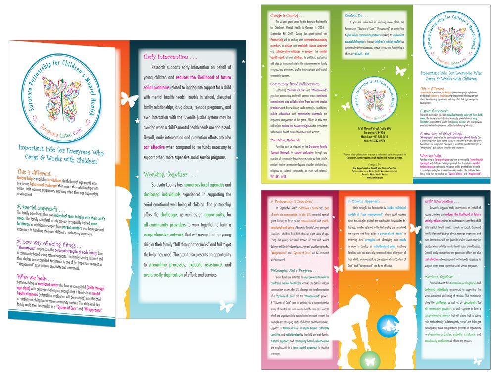 Client Sarasota Partnership For Children 39 S Mental Health Project Tri Fold Brochure