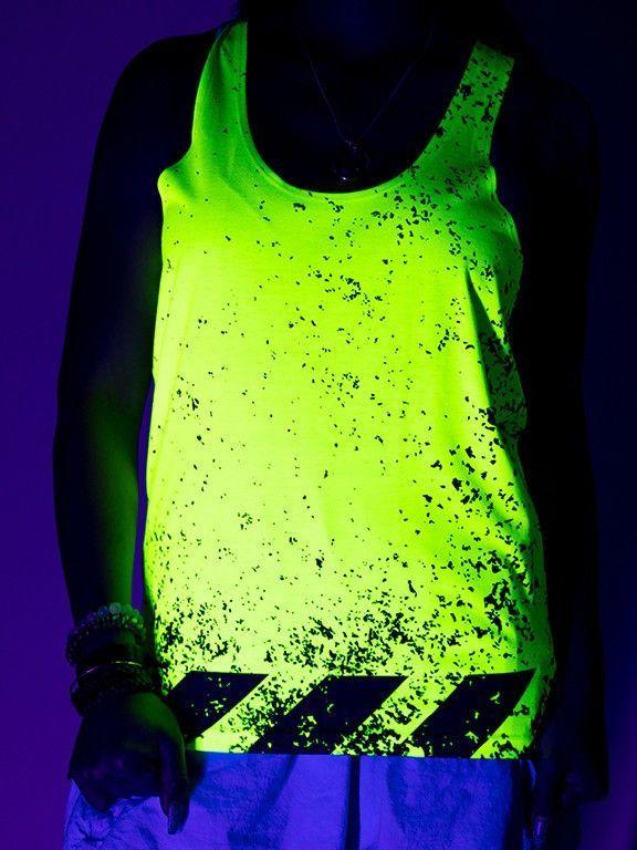 Neon Caution Unisex Tank Top
