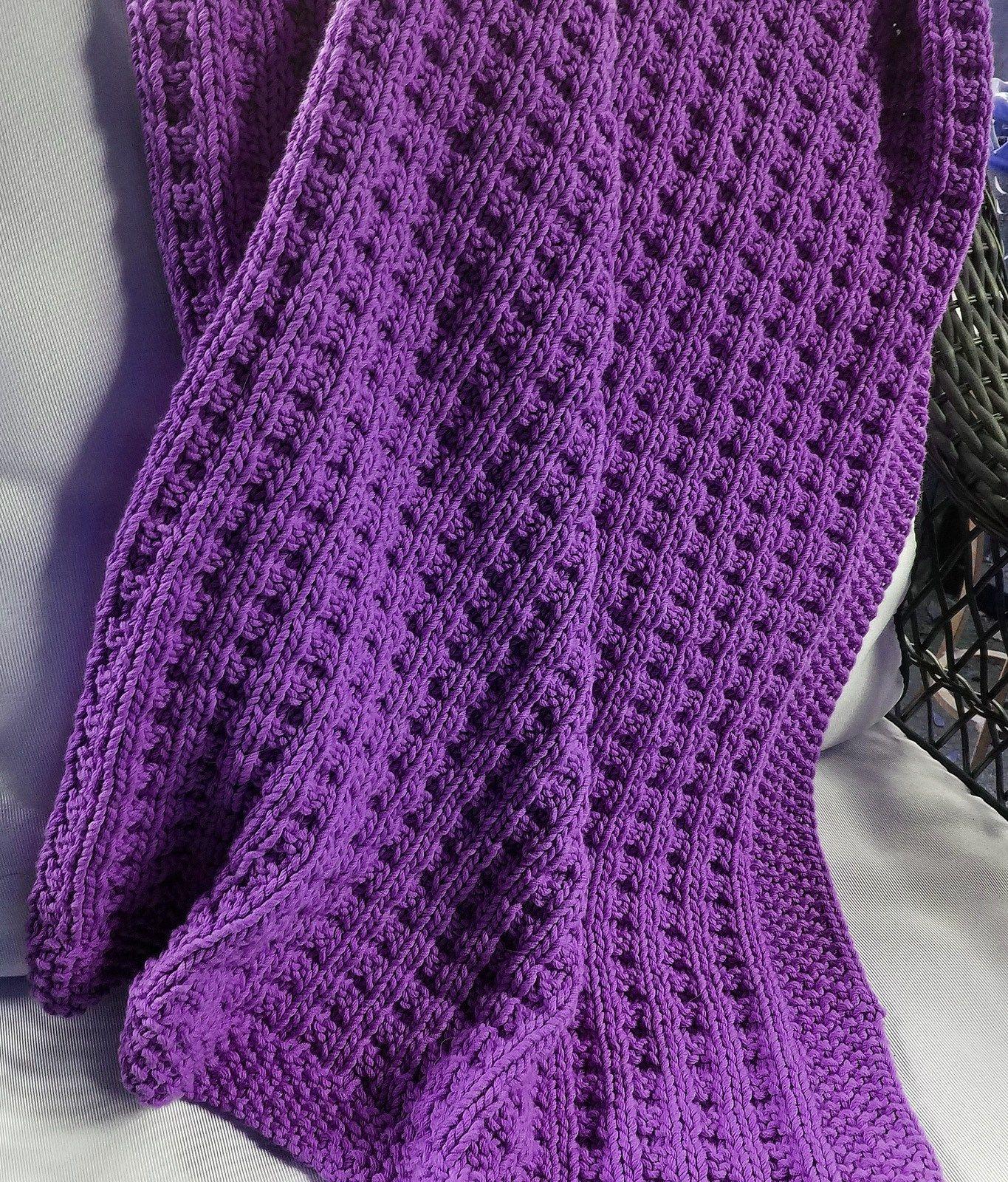 Free Knitting Pattern for Cuddly Baby Blanket -Sarah Keller\'s easy ...