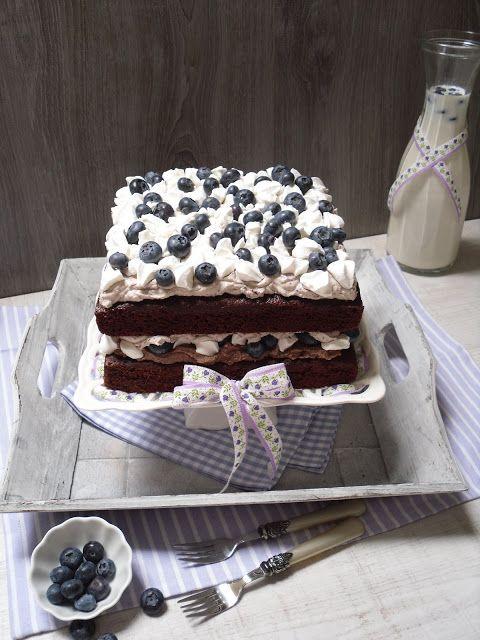 Meine Küchenschlacht: Heidelbeer-Schoko-Torte mit Baiser + PME Backform Test & Shopvorstellung Torten Boutique