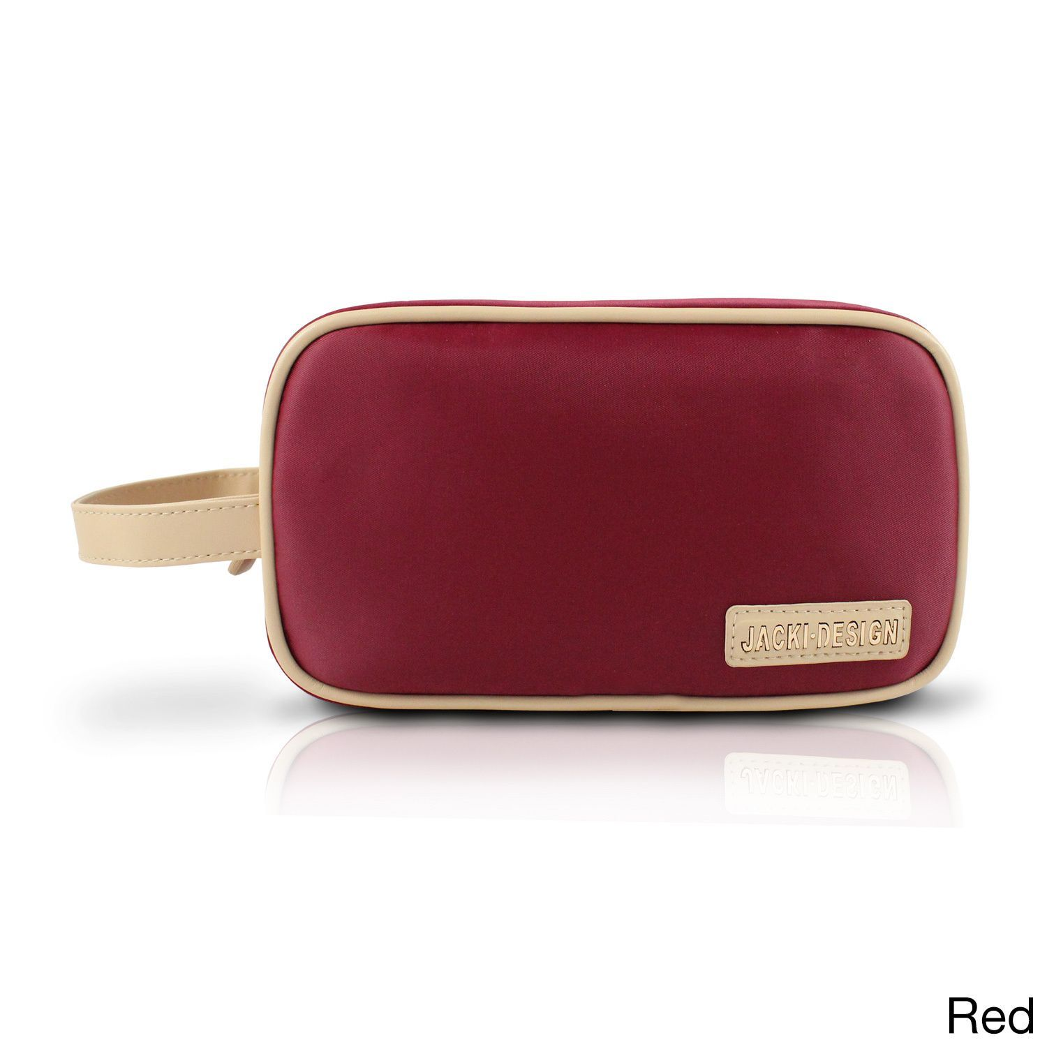 Jacki Design Essential Double Zipper Cosmetic Bag With Handle