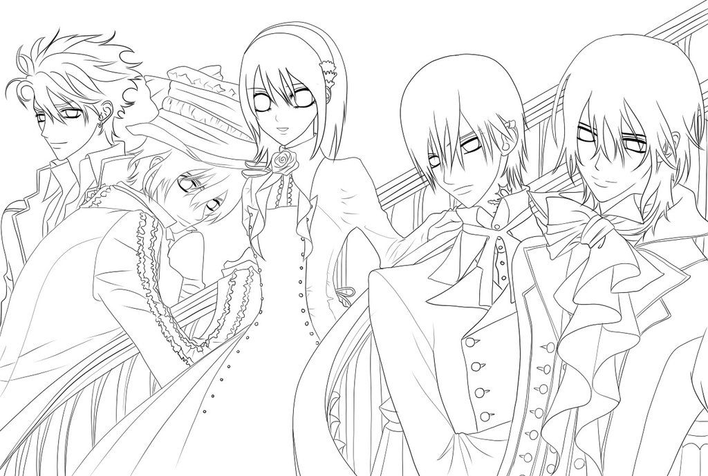Раскраска аниме вампиры распечатать