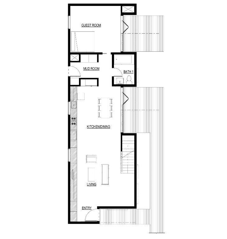Floor plans for green architecture house Suburban Loft Lake