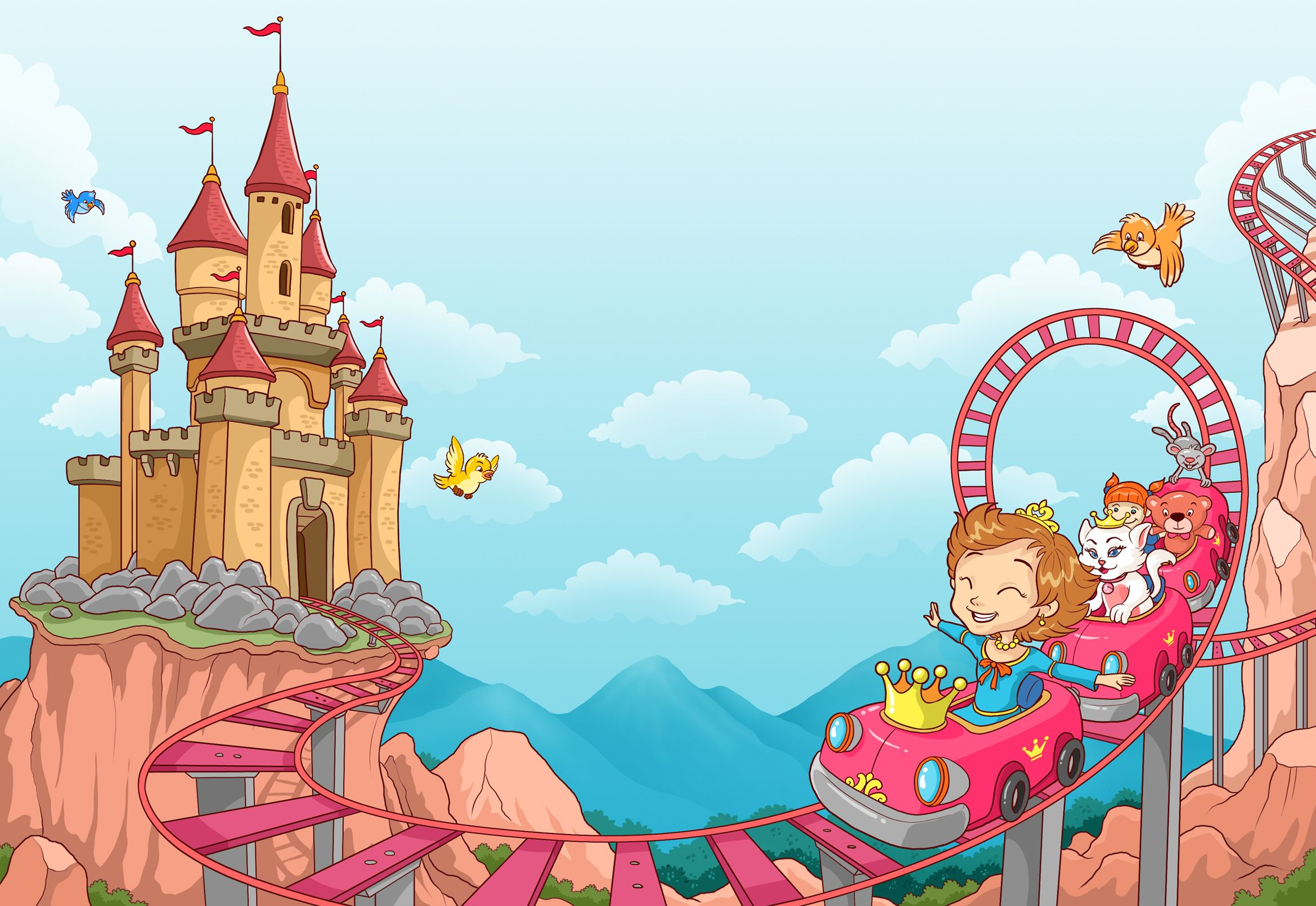 If I was a princess I'd have a palace on a hill...