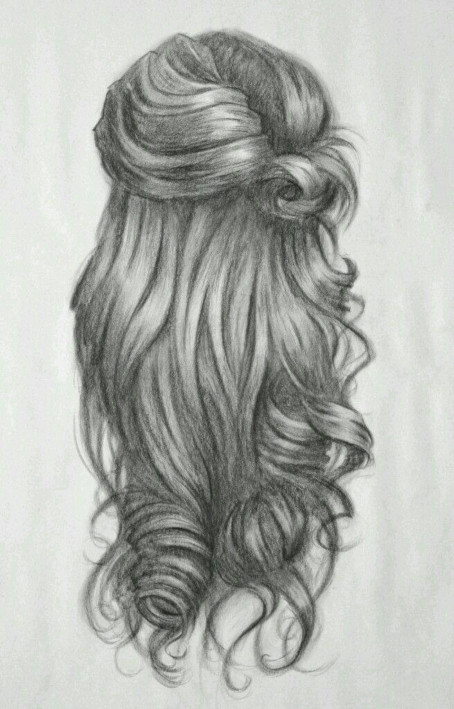 Hairstyle Sketch How To Draw Hair Hair Sketch Curly Hair Styles