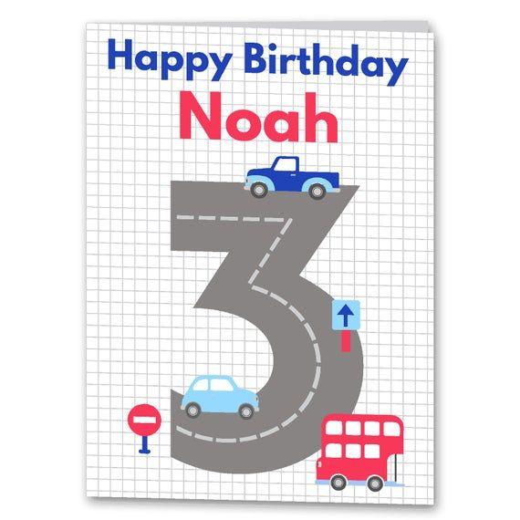 Birthday Boy Blam 3 By Nailesi: Boys 1st, 2nd, 3rd, 4th, 5th, 6th Birthday Card