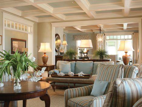 Ideas Design Cape Cod Interior With Stripped Seat