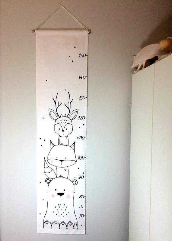 Photo of Animal growth ladder, height scale, fabric, growth control …