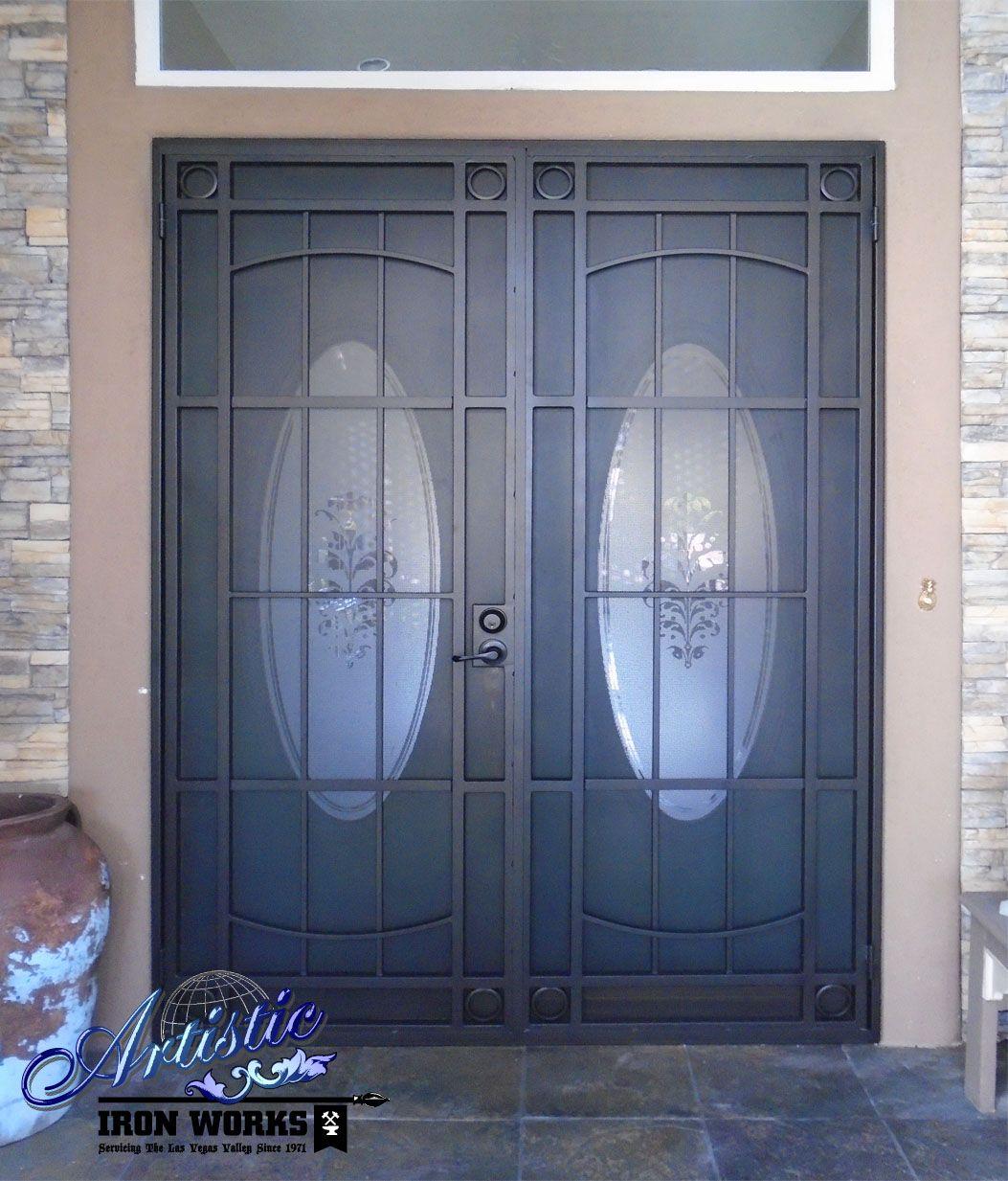 The Newbury - Double Door Wrought Iron Security - FD0110A ...