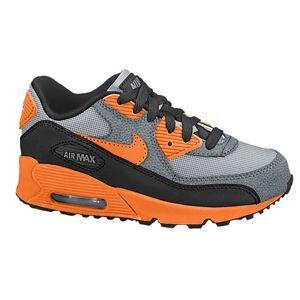 6a5a96ba08d9 Nike Air Max 90 - Boys  Preschool - Wolf Grey Black Cool Grey Total Orange