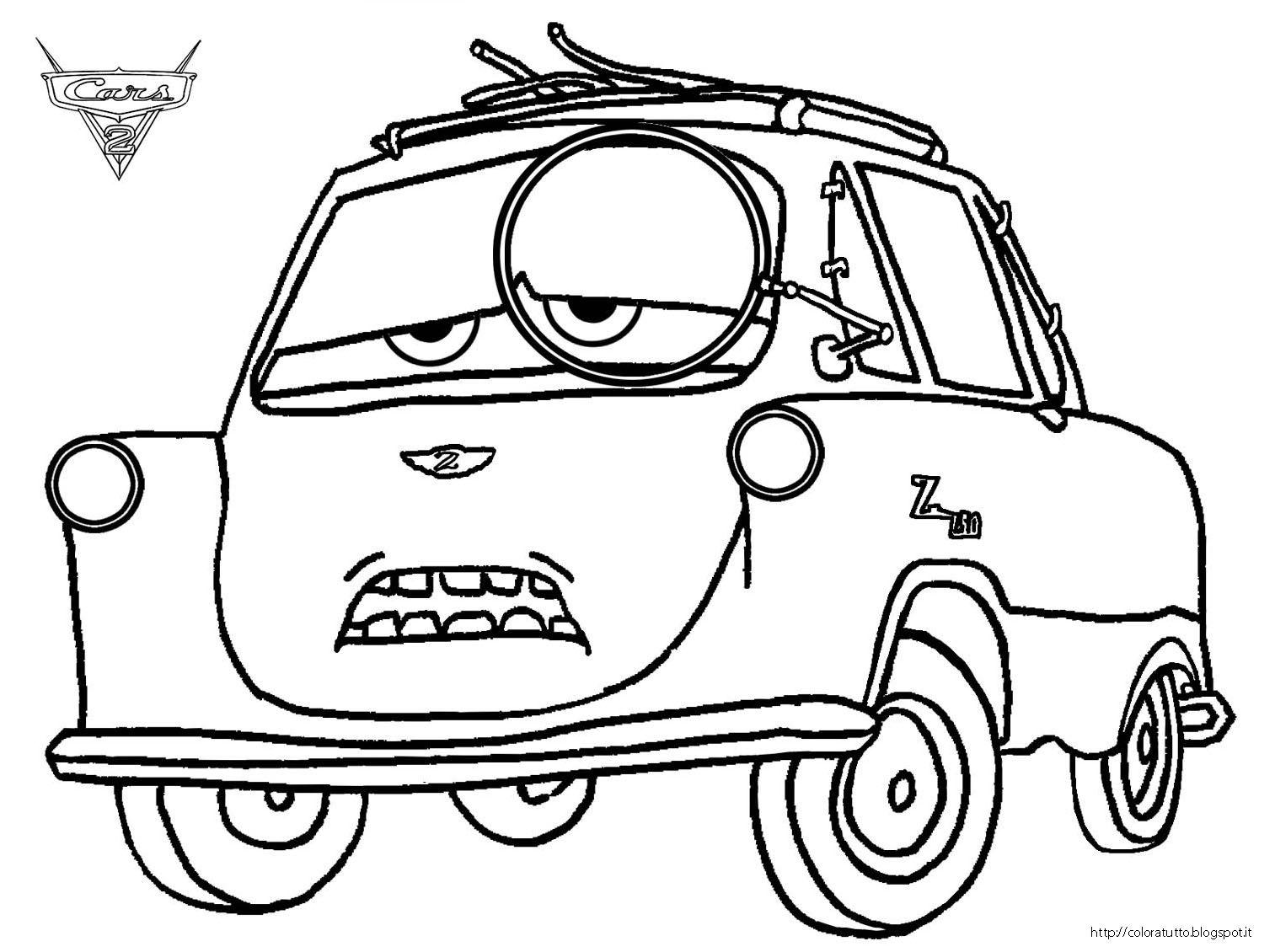 Professor Z Disegno Colorare Professor Z Cars Coloring Pages