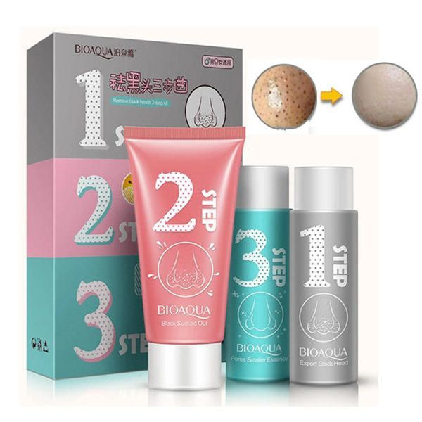 BIOAQUA 3 Steps Blackhead Remover Nose Mask Pores Smaller Essence Liquid Set Facial Skin Care only US$9.99  BIOAQUA 3 Steps Blackhead Remover Nose Mask Pores Smaller Essence Liquid Set Facial Skin Care #Health&Beauty #water_bottle #tools_set #hair_clip #hair_straightener #hair_curler #hair_extensions #model_train  -- Delivered by Feed43 service