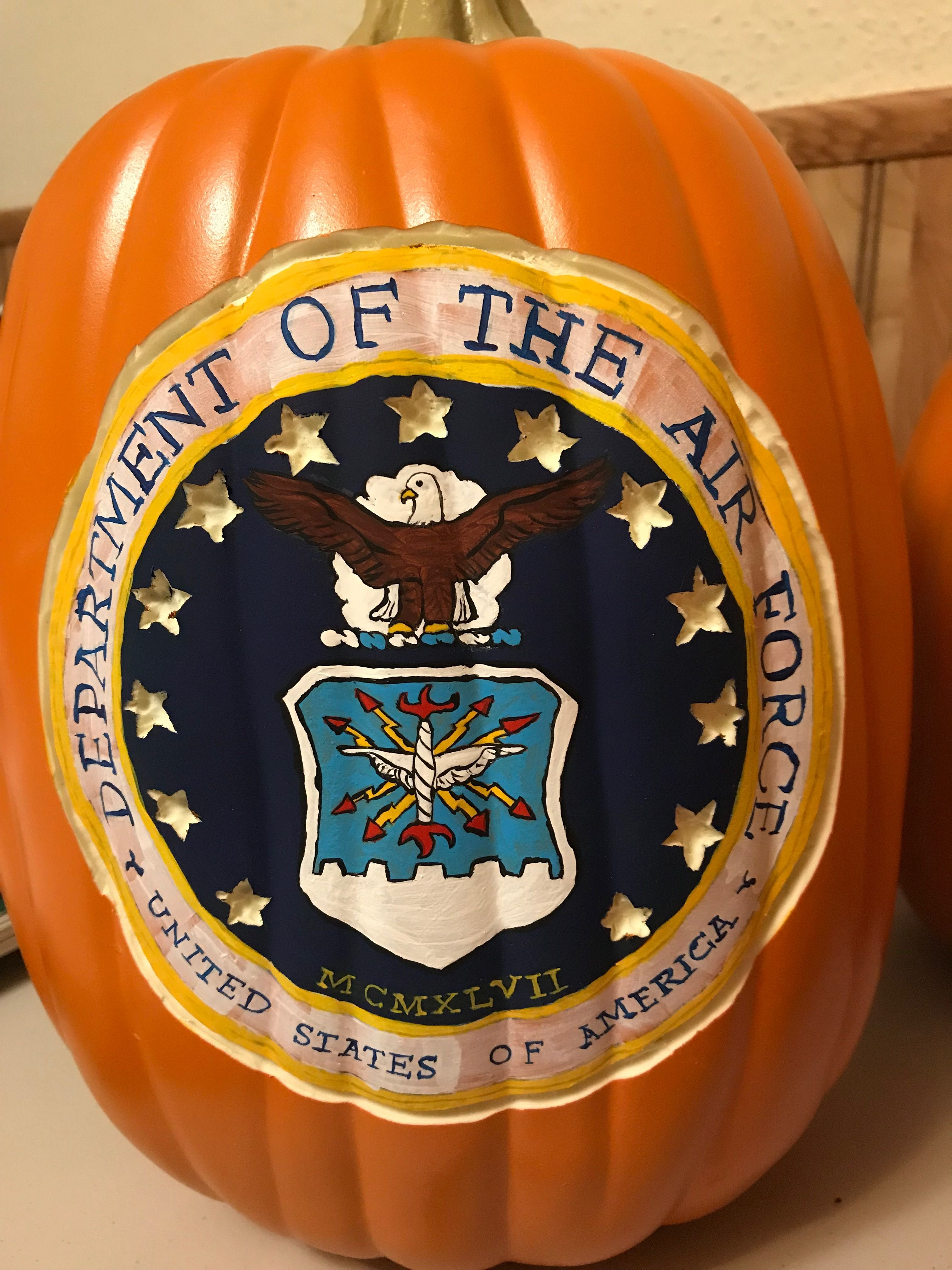 Air Force 2017 Pumpkin carving, Fake pumpkins, Pumpkin
